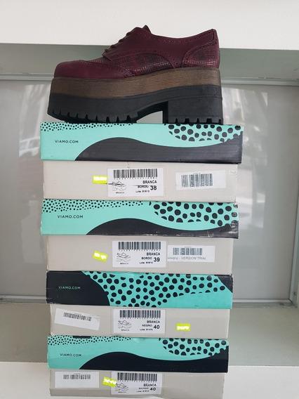 Zapato Acordonado Con Plataforma Marca Viamo Modelo Branca