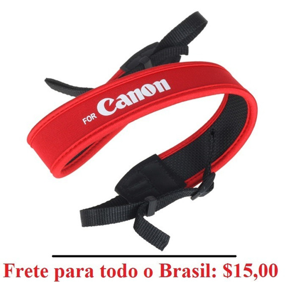 Canon Alça De Neoprene Ombro Pescoço T4i T5i T6i T6s Dslr