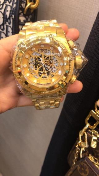 Relógio Invicta Masculino Bolt Zeus Ouro 18k+caixa+frete+12x