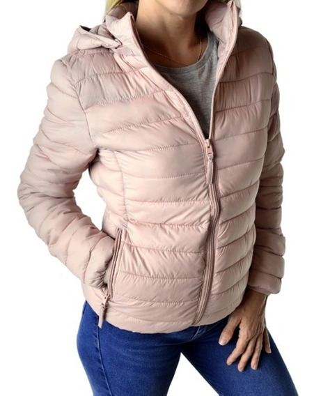Campera Ultralivina Corta Simil Pluma Mujer The Big Shop