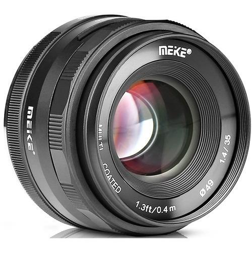 Novo! Meike Mk-35mm F/1.4 Lente Para Micro Four Thirds
