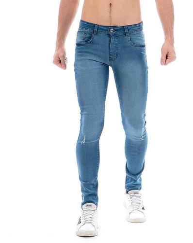 Imagen 1 de 6 de Jeans Pantalón Mezclilla Caballero Stone / Ligera Demolición