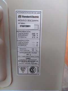 37 Unidad Exterior Standard Electric 2600w F Solo Nueva