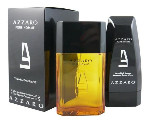 Azzaro Eau De Toilette - Perfume 100ml + Shampoo 150ml Kit