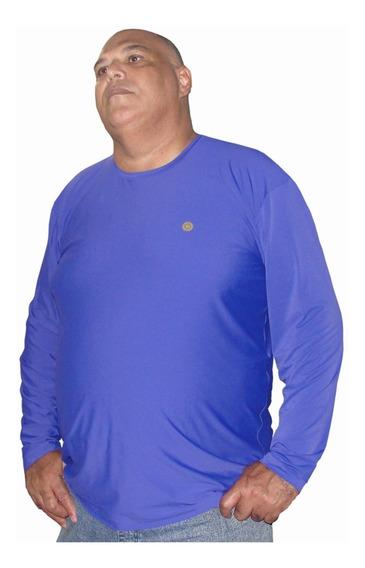 Camiseta Segunda Pele Proteção Solar Uv Plus Size Xgg A Egg