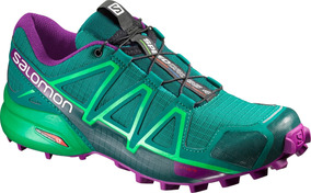 Zapatilla Femenina Salomon- Speedcross 4 W Verde/morado