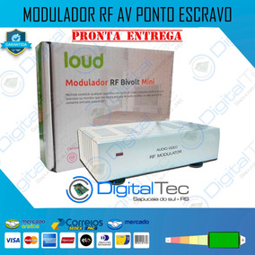 Modulador Rca Rf Ponto Escravo Coaxial Av Canal 3 4 Sky Net