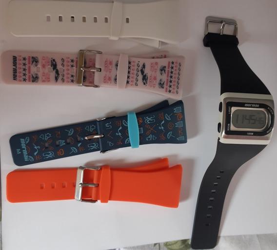 Relógio Mormaii Troca Pulseiras Unissex