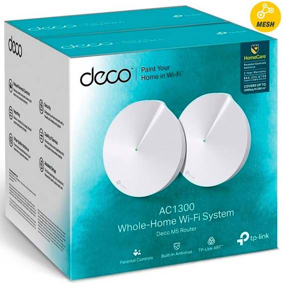Access Point Tp-link Deco M5 Ac1300 Mesh Wifi Dual 2-pack