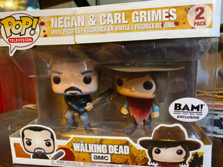 Funko Pop Walking Dead Pack Exclusivo Negan Y Carl