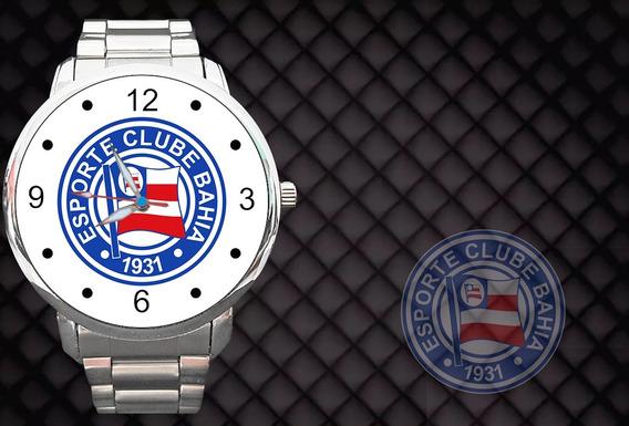 Relógio Personalizado Tema Bahia Futebol Salvador Bola Time