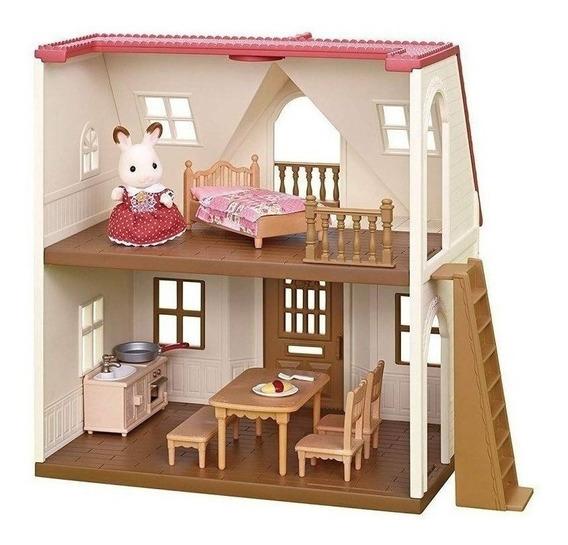 Minha Primeira Casa Sylvanian Families Com Móveis E 1 Boneca