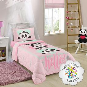 3aeb3919fe Edredom Urso Panda 100% Algodão 150 Fios 1 Peça Lepper