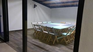 Set Pintadas Mesa Y 4 Sillas Plegables Mobiliario Restaurant