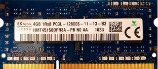 Memoria Ram Ddr3 4gb Sk Hynix 1rx8 Pc3l-12800s Sodimm Laptop