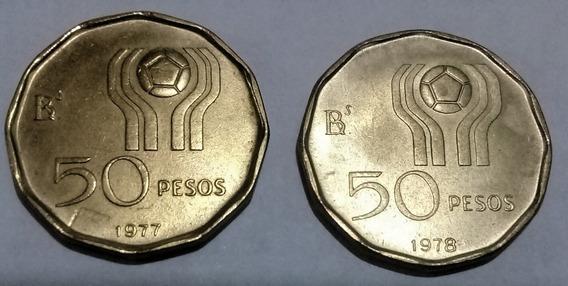 Moneda (2) 50 Pesos Arg Conmemorativa Mundial 78