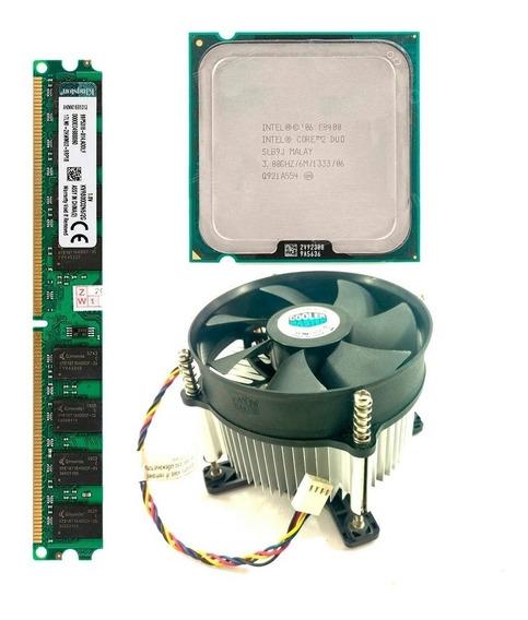 Kit Core 2 Duo E8400 2gb Memoria Ddr2 800mhz + Cooler Master
