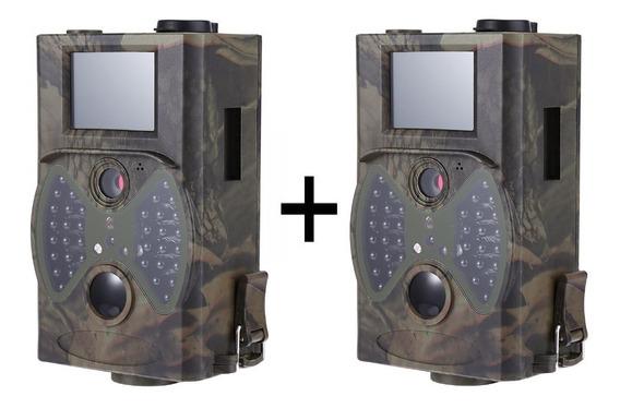 2 Câmeras Trilha Hc300a Visão Noturna Armadilha Fotográfica