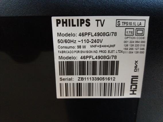 Tv Led Philips 46pfl4908g/78,defeito Na Tela, Diz O Técnico