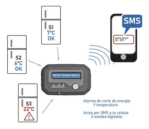 Imagen 1 de 6 de Avisador Corte De Energia Y Temperatura 3 Equipos Gsm X Sms
