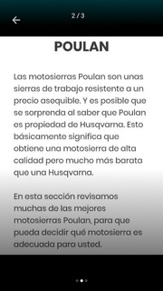 Motosierra Poulan Original