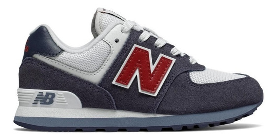 Zapatillas New Balance Pc574 Cn Urbana Juniors-niño Azul