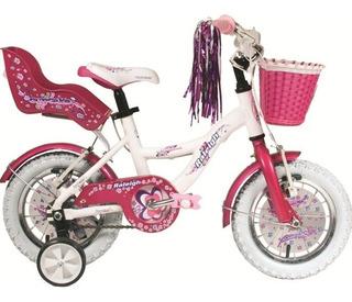 Bicicleta Raleigh Rodado 12 Nena Aluminio Cupcake E. Gratis!