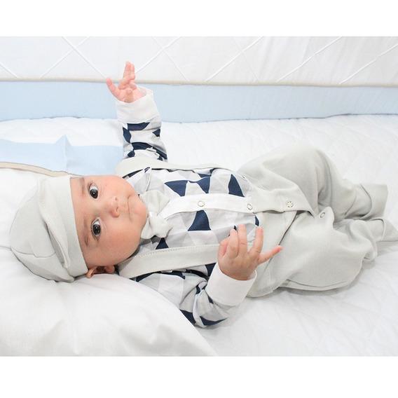 Saída De Maternidade Miguel Cinza 4 Peças / Tamanho: P