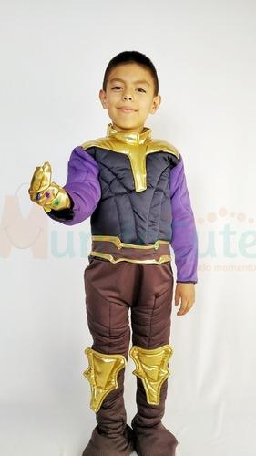 Imagen 1 de 3 de Disfraz Thanos Niño Acolchado Talla 6 Y 8