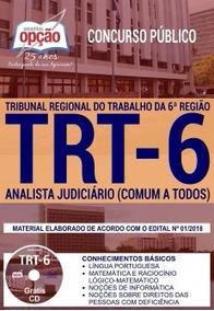 Apostila Trt 6ª Região 2018 Analista Judiciário (comum A To