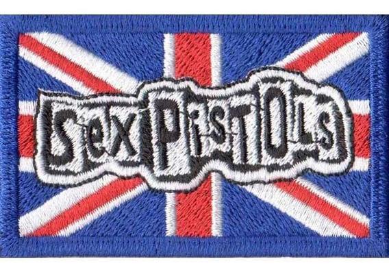 Patch Bordado Rock Bandeira Reino Unido Sex Pistols Dv80314
