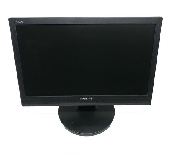 Monitor Lcd Philips 15,6 Polegadas Usado 160vw9fb/78