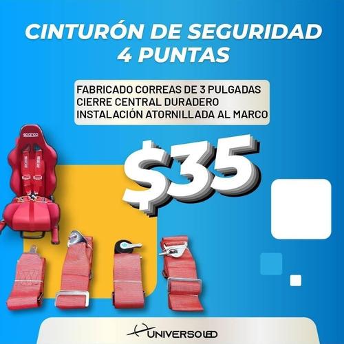 Imagen 1 de 9 de Cinturón De Seguridad Deportivo Sparco Auto 4 Puntas