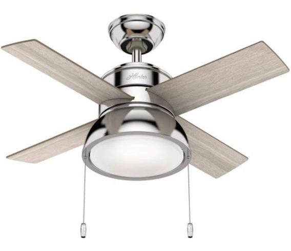 Kooper 2172386 ventilador de techo marr/ón con 5 h/élices y 3 l/ámparas