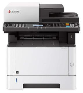 Impresora multifunción Kyocera Ecosys M2135DN 120V blanca y negra