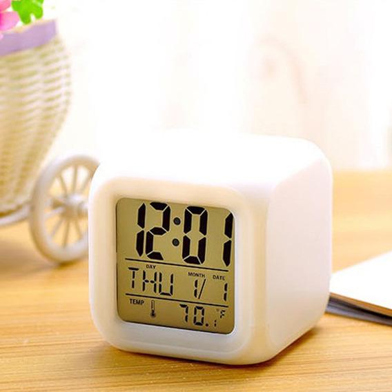 Multi-função 7 Alterando Cores Led Despertador Digital