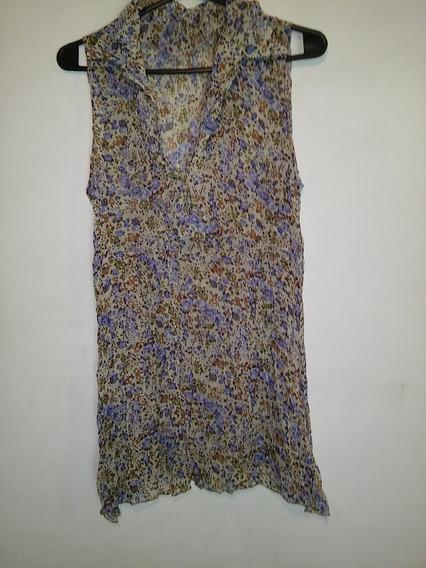 Blusa Camisa Floreada Talle S-m