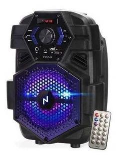 Parlante Portatil Bluetooth Inalambrico Luces Rgb Noga Bt800