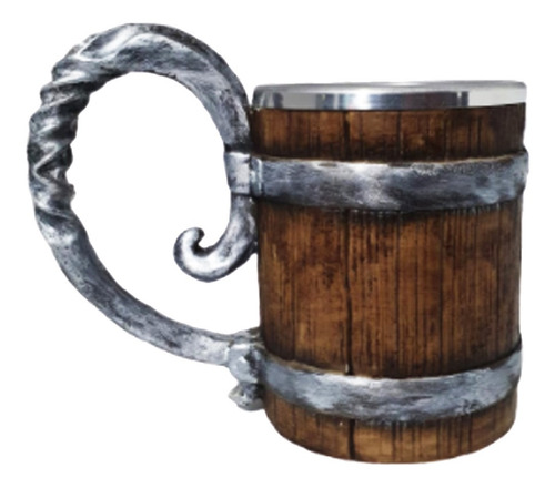 Caneca 3d Vikings Estilo Barril Envelhecido Retro