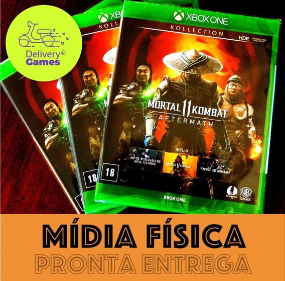 Mortal Kombat 11 Aftermath Xbox One Mídia Física Lacrado