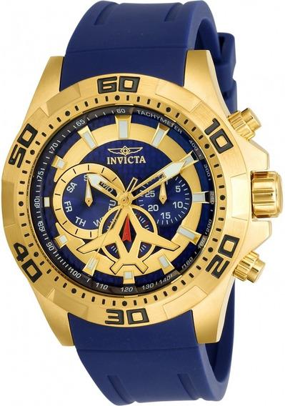 Relogio Invicta Pro Diver 21737 Banhado Ouro 18 K C/ Nf Top!