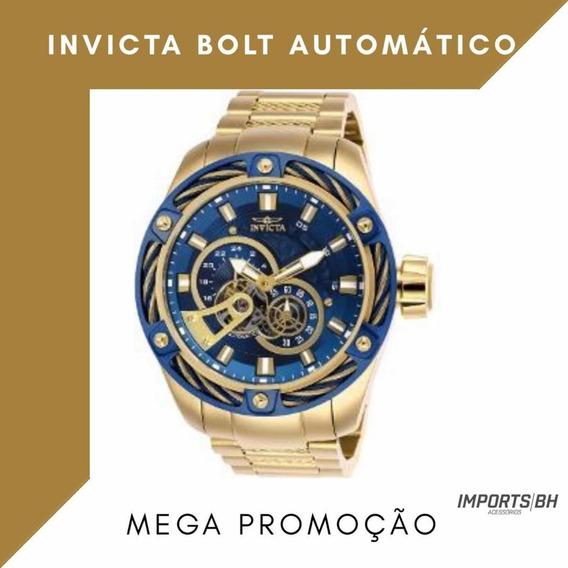 Bolt Automático Azul Dial Men Watch