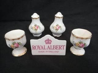 Royal Albert 2 Porta-ovos, Saleiro E Pimenteiro Chelsea Bird