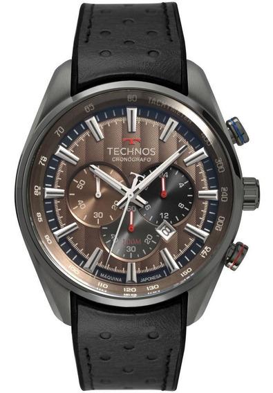 Relógio Masculino Technos Os20hmi/2m 47mm Couro Preto
