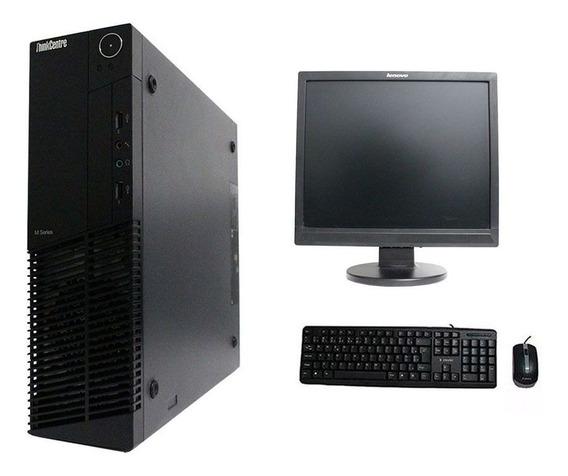 Computador Lenovo Thinkcenter M91 I3 4gb 240ssd Monitor 17 Polegadas