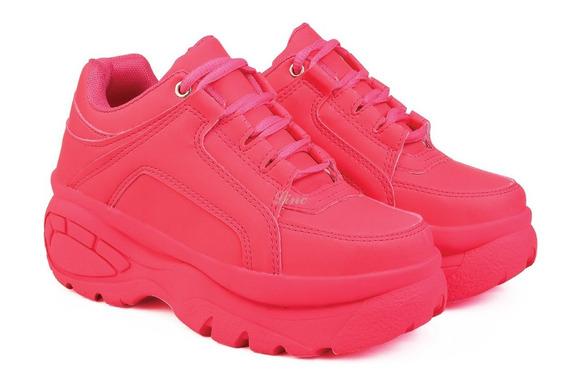 Tênis Sneaker Bf Feminino Linc Plataforma De 5cm Altura