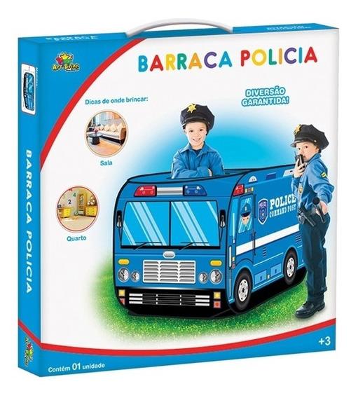 Barraca Infantil Policia Casinha Barraquinha Com Janela