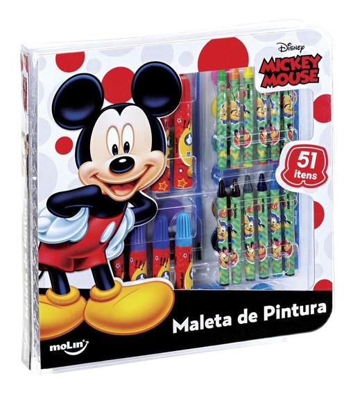 Maleta De Pintura Square Mickey - 51 Peças