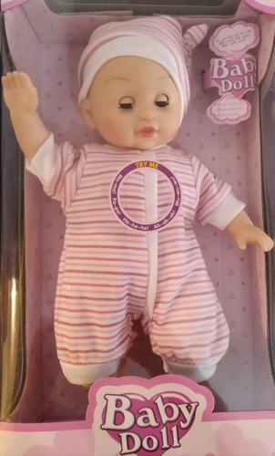 Muñeca Con Sonidos Para Niñas Bebe Baby Juguete