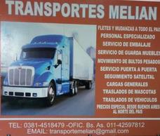 Transporte Melian: Minifletes, Mudanzas A Todo El Pais !